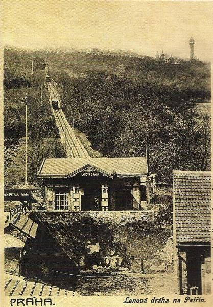 Funicular Railway to Petřín Hill, 1902