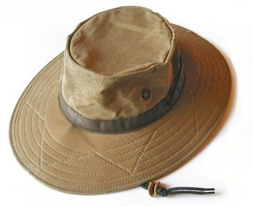 Wax cotton hat by watership hats fishing hats for Fishing hat pins