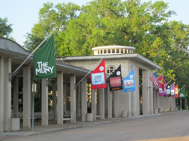 The Muny outdoor theater,in Forest Park, St Louis Mo. USA by billsteffen, via Flickr