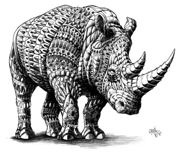 Rhinoceros Art Print by BioWorks   society6.com