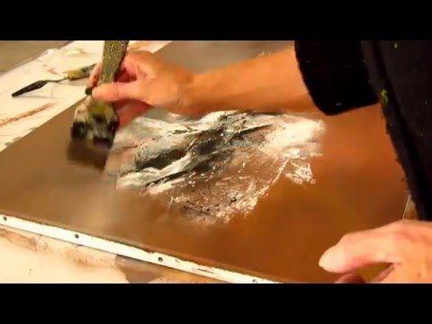 """Démonstration de peinture abstraite (12) Elisabeth - Toile """"Impact"""" - YouTube"""