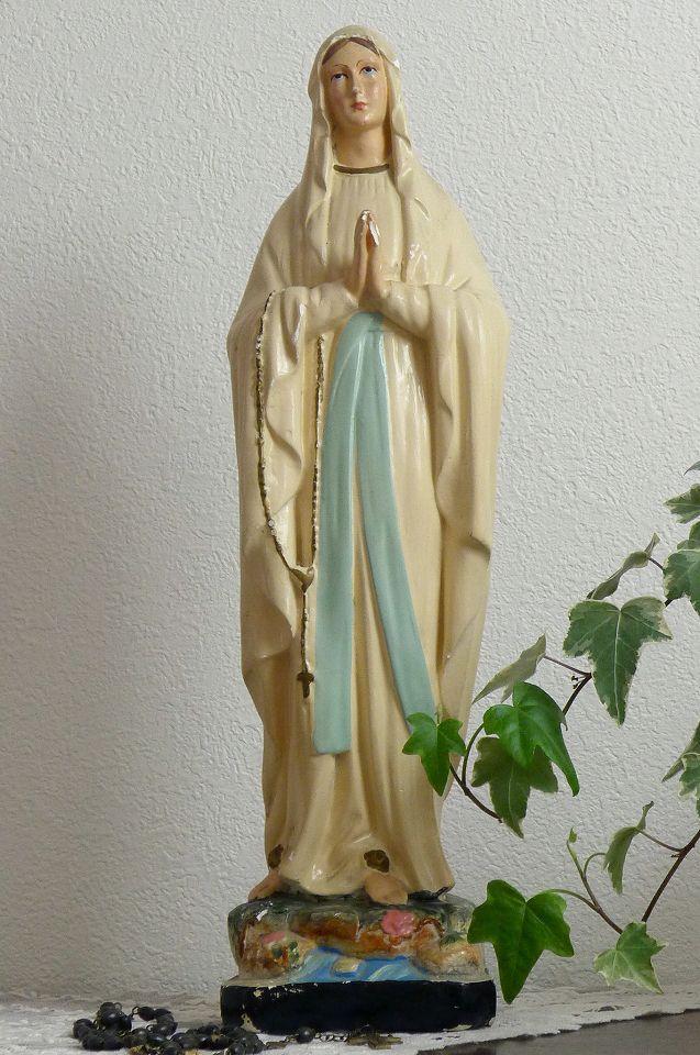 アンティーク 聖母マリア像 オ・ボール・ドゥ・ロー