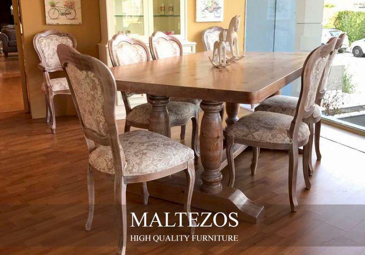 ΤΡΑΠΕΖΑΡΙΑ ΜΑΣΙΦ: CTR-078  #τραπεζαρια από την #maltezosfurniture   #dining #room #country #furniture