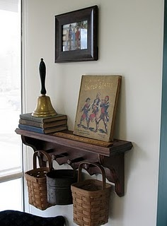 Inspired! I can totally make this 'work' in the dining/homeschool room to look cute and vintage and not so obviously...functional.