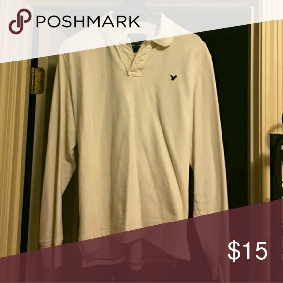 Men's long sleeve polo In great condition! American Eagle Outfitters Shirts Polos