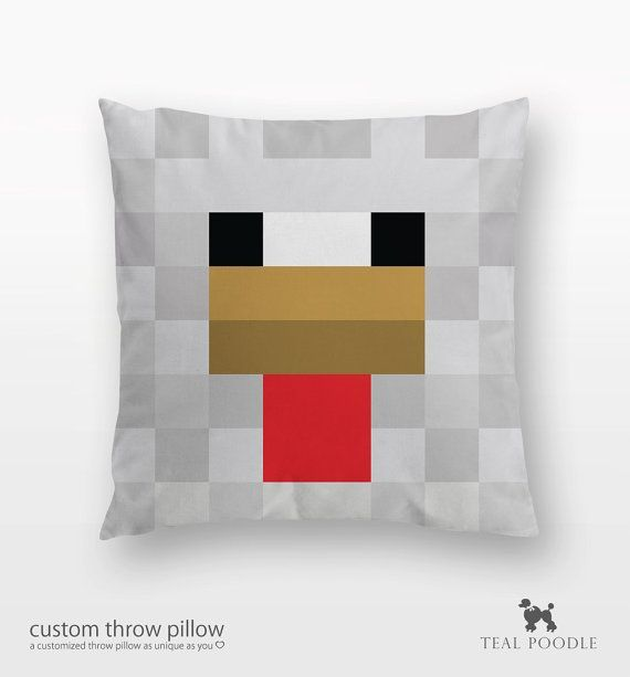 Minecraft Diamond Block Throw Pillow by Ellyonart | Society6