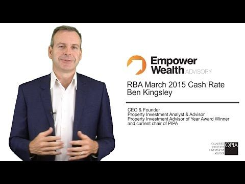 Here is Ben Kingsley's commentary on the March 2015 RBA Cash Rate announcement. We have also included a recent Success Story, an article on choosing whether to increase your cash flow now or later, and we have job opening for a Buyers Agent. Enjoy!     Read more about our Property Investment blog here: http://empowerwealth.com.au/