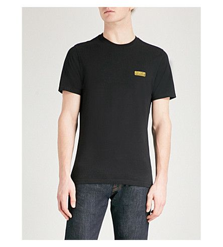 BARBOUR International logo cotton-jersey T-shirt. #barbour #cloth #