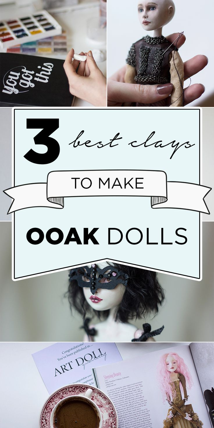 Art dolls tutorial. Pick the best air dry sculpting clay for your OOAK doll. Adele Po.