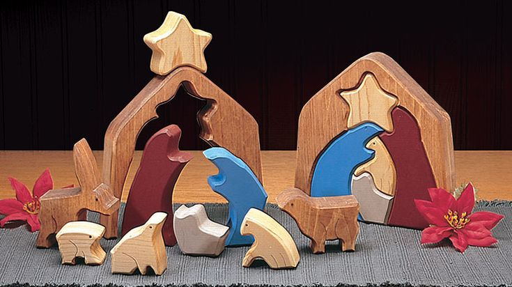 This simple nativity puzzle design by Paul Meisel teaches the Christmas Story and doubles as a holiday decoration.