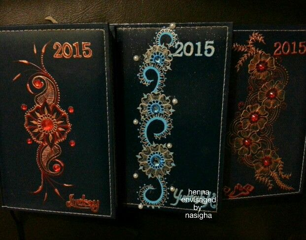 Henna inspired journal covers