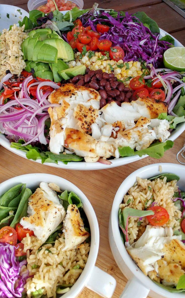 Fish Taco Bowls with Cilantro Lime Vinaigrette