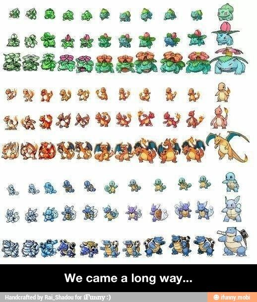 all pokemon starters and evolutions