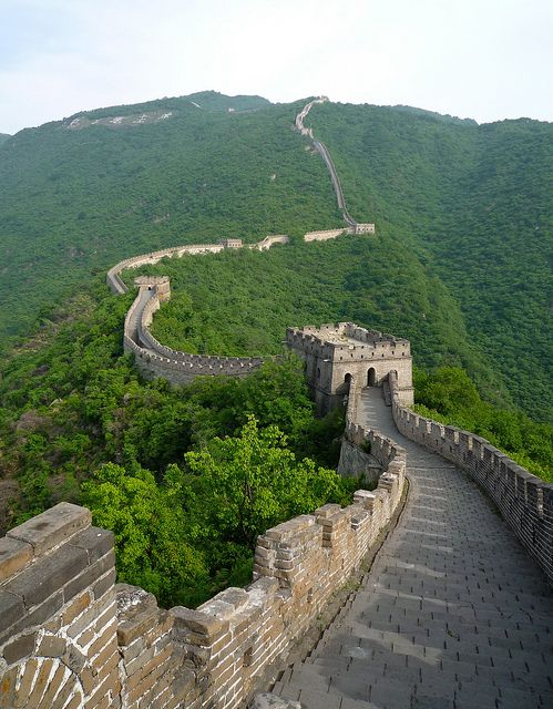 Section of The Great Wall at Mutianyu, China by Coyolicatzin, via Flickr