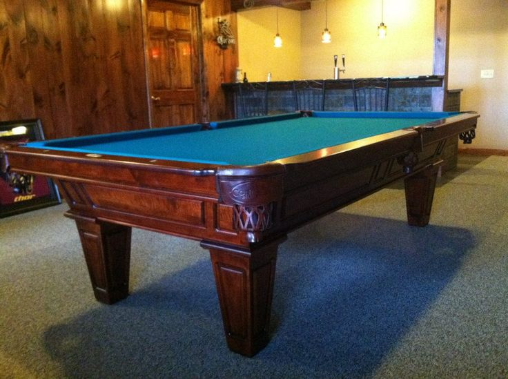 Connelly Cochise pool table shown in Millcreek on maple. The Cochise and all other Connelly pool tables are available at Maine Home Recreation.