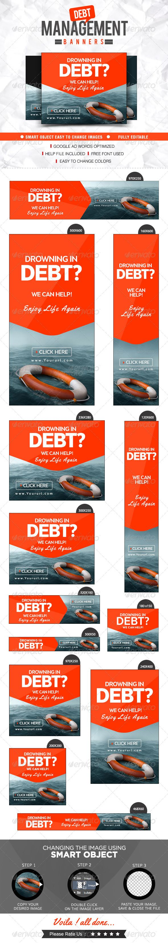 Debt Management Banners Template PSD | Buy and Download: http://graphicriver.net/item/debt-management-banners/8644777?WT.ac=category_thumb&WT.z_author=doto&ref=ksioks