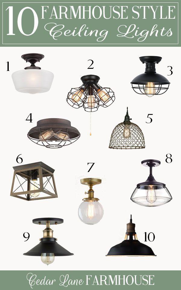 Top Ten Favorite Farmhouse Ceiling Lights Farmhouse Ceiling Light Bedroom Light Fixtures Basement Light Fixtures