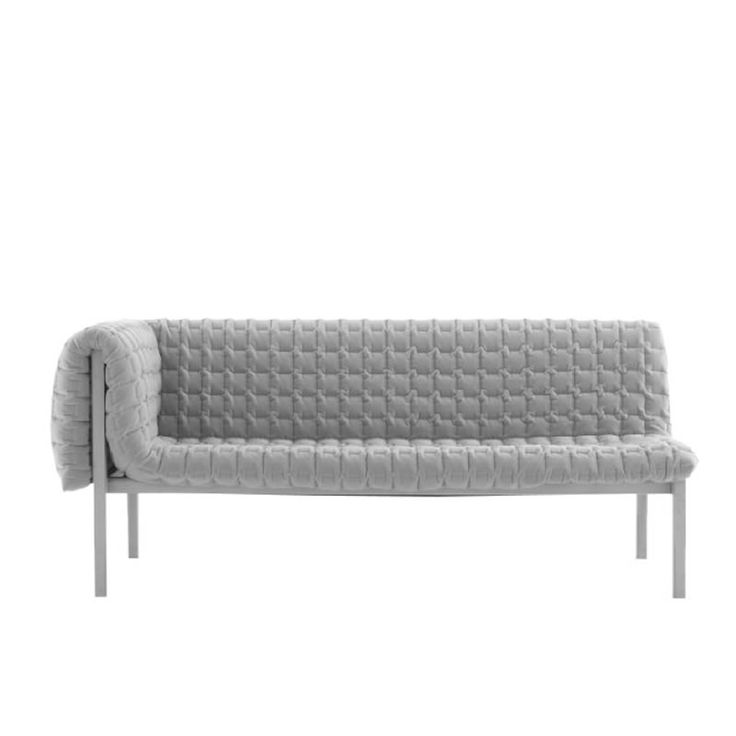 Ruche couch in grey minimal design couch sofa for Canape ligne roset