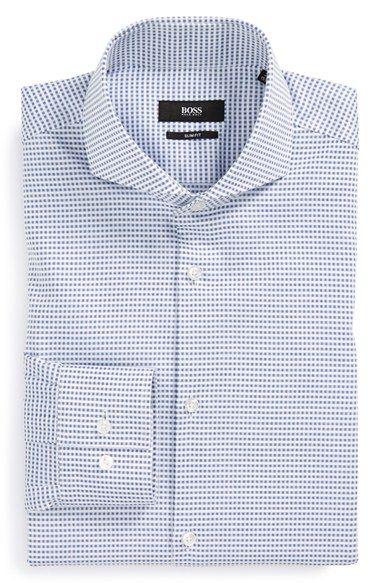Men's BOSS 'Dwayne' Slim Fit Check Dress Shirt