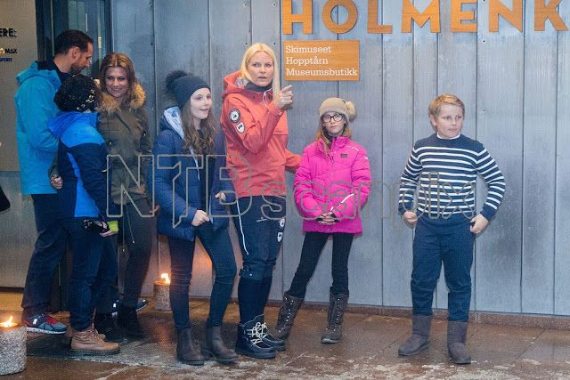 The Norwegian Royal family participated in a festival at the ski museum in honor of King Harald's 80th birthday