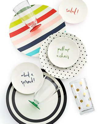For The Casual Chic Host, Kate Spadeu0027s Cute Dinnerware Says It All
