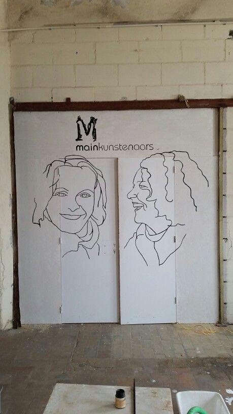 Ingang atelier Mainkunstenaars