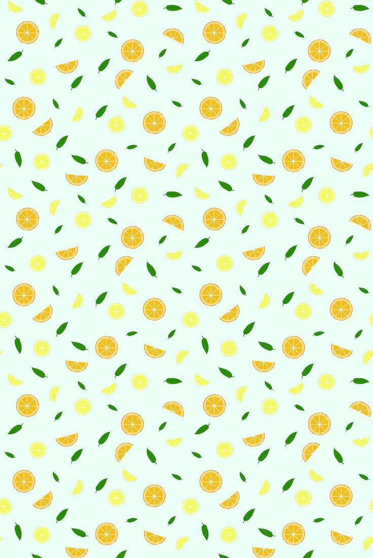 Citrusmönster av Anna María Larsson