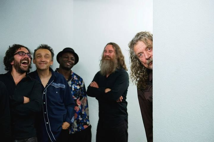 Robert Plant (far right) and The Sensational Space Shifters, July 2014.