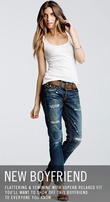 New Boyfriend Jeans & Denim Shorts for Women | True Religion