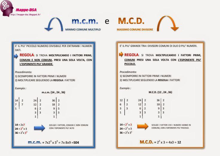 m.c.m. e M.C.D