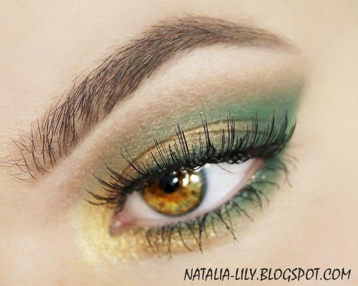 natalia-lily: Beauty Blog: Makijaż: Summer in the jungle - złoto i zieleń (krok po kroku)