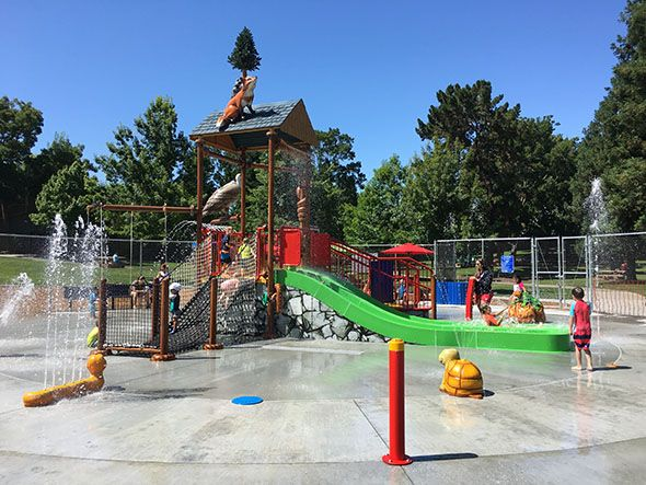 Walnut Creek's recently renovated Larkey Spray Ground is the perfect place to spend a sunny day in the Bay with kids 5 and under.