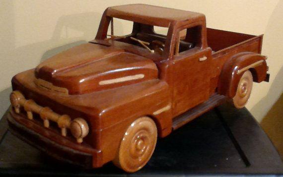 Madera carro 1951 Ford Pick-up mano hecha a por woodcraftsbydennis