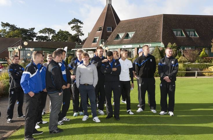 Some of the 1st Team Ipswich Town #football club players waiting to tee off.