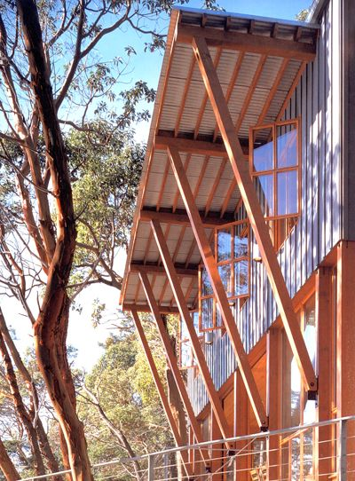 Board and Batten siding: Girvin Cabin on Decatur Island, WA by Miller Hull