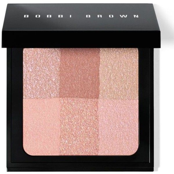 Bobbi Brown Pink Brightening Brick Br found on Polyvore featuring beauty products, makeup, cheek makeup, blush, pink, blender brush, blending brush, bobbi brown cosmetics and pink blush