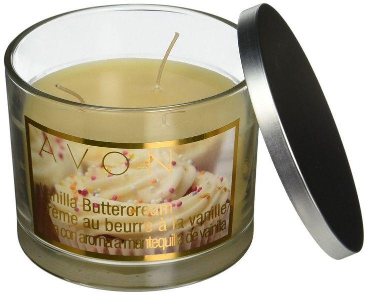 Avon Vanilla Buttercream Scented 3 Wick Candle BIN #Avon