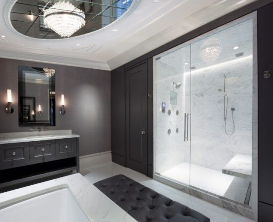 Master Bathroom   Contemporary   Bathroom   Chicago   Michael Abrams  Limited Nice Bright Steam Sauna, Built In Seat.