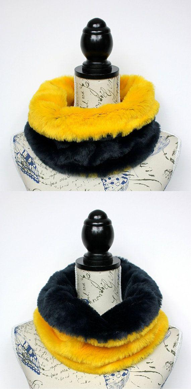 Women Fur Infinity - Gift for Best Friend - Furry Neckwarmer - Gift for Wife - Winter Fur Collar - Fashion Gift - Christmas Stocking Stuffer