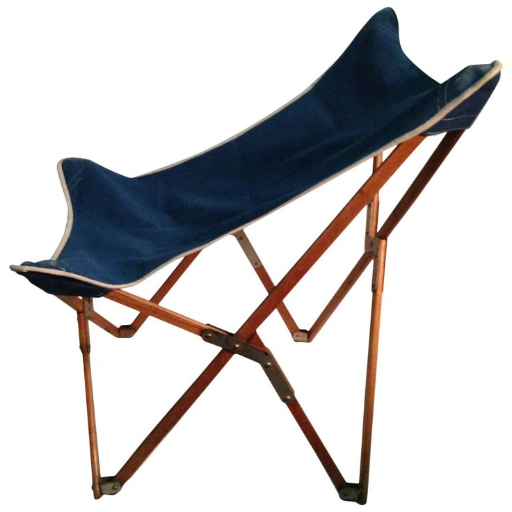 Mogens Lassen Folding Chair with Canvas Seat, Danish, circa 1930s   See more antique and modern Children's Furniture at https://www.1stdibs.com/furniture/more-furniture-collectibles/childrens-furniture