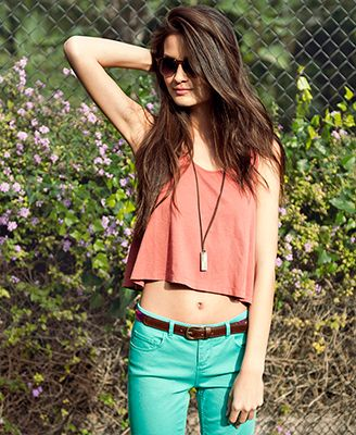 Crop Swing Tank in Blush - Forever21: Outfits, Fashion, Style, Clothes, Clothing, Dress, Closet, Forever21, Crop Top