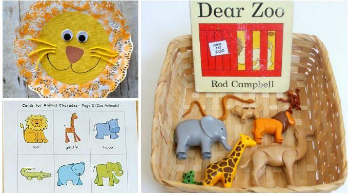 dear zoo activities and crafts preschool eyfs