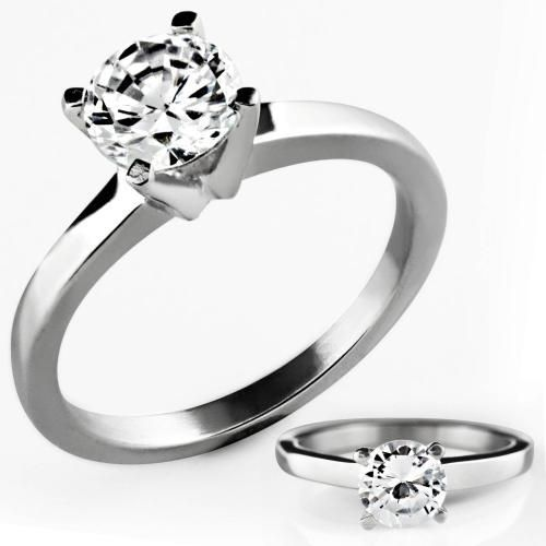 Style Sanctuary  - Cubic Zirconia Cathedral Set Solitaire Engagement Ring, £8.99…