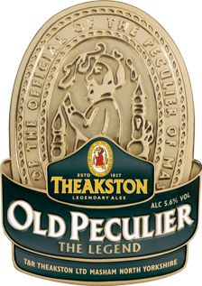 THEAKSTON'S OLD PECULIER - is a beautiful, yet very simple beer, brewed using a very generous blend of finest pale, crystal and roasted barley with two bitter hops combined with the majestic and noble 'Fuggle' hop to produce a beer of awesome full-bodied flavour with subtle cherry and rich fruit overtones. It tastes superb when accompanied by rich stews, strong cheeses and sweet puddings.