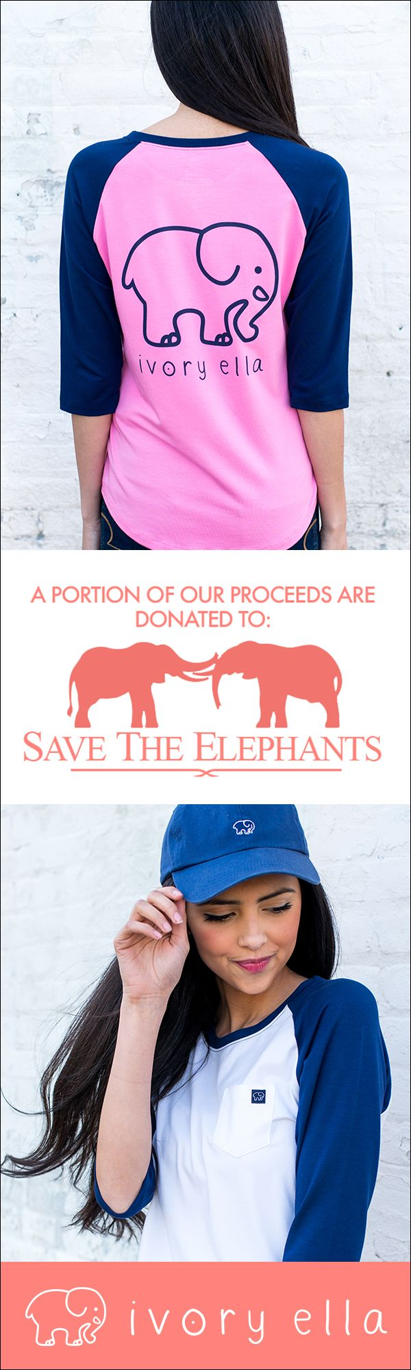 Check out our baseball tees collection. Every purchase supports Save the Elephants.