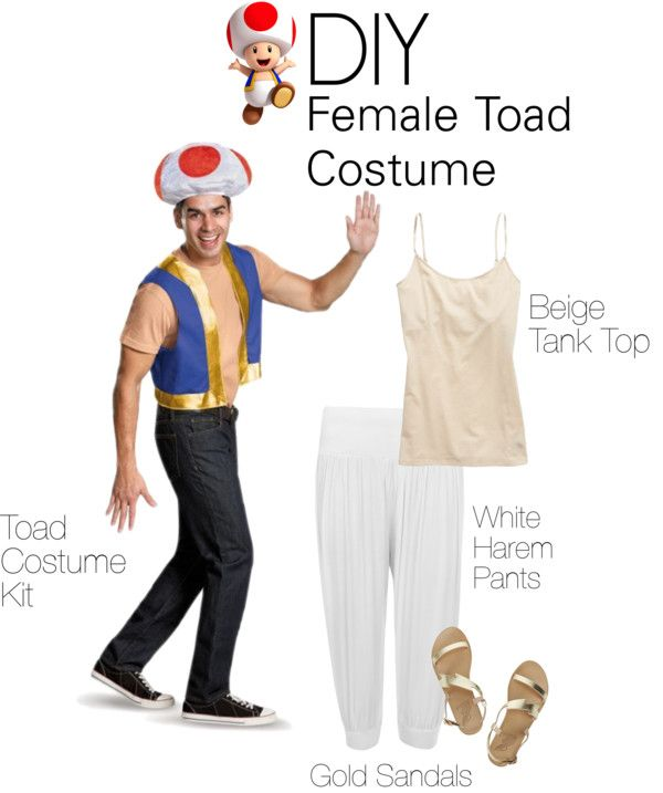 DIY Super Mario Toad Costume #halloween