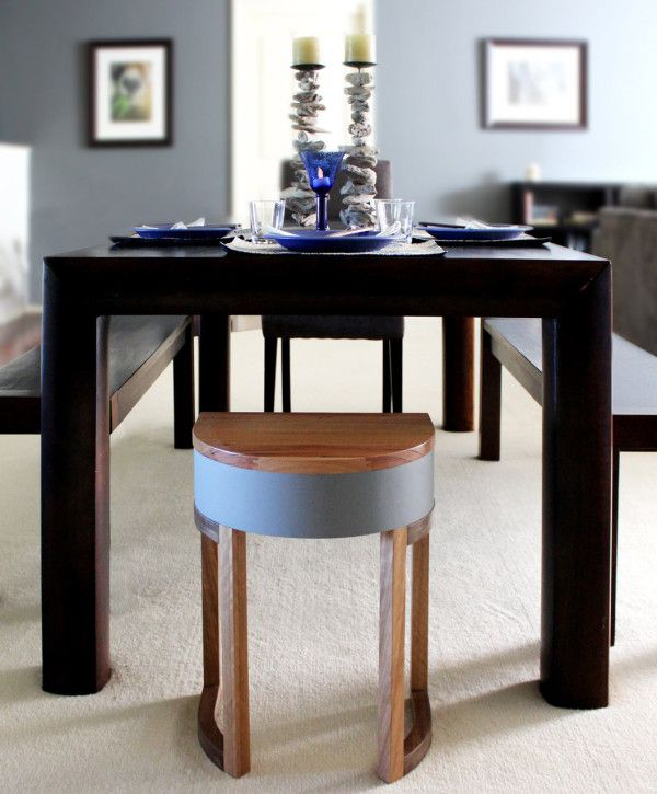 Tables Four Two are a set of four nested components that were designed as either tables or stools by  Sheree Bucton