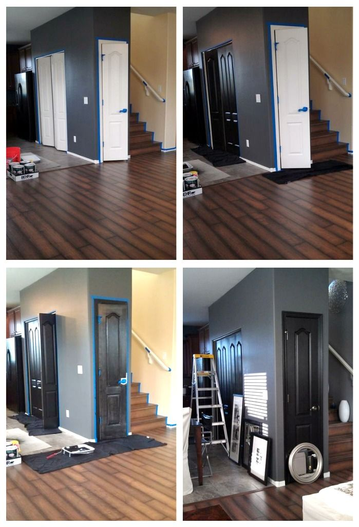 My Rental Restyle: Painting doors BLACK + Moving or Renting Interior Painting Tips via @FocalPoint