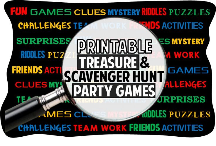 Printable Treasure Hunt Riddles Clues Games And