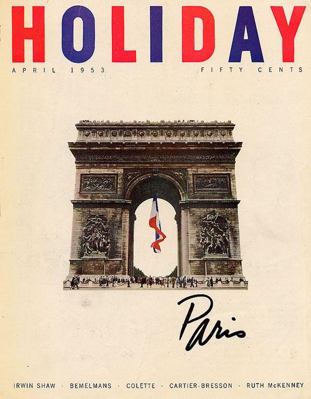 Holiday-April-1953  Frank Zachary, Art Director